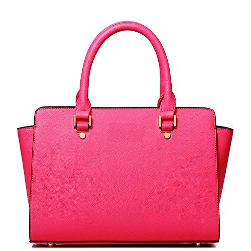 Syknb Tasche Handtasche Umhängetasche Tasche Einfach Rose red