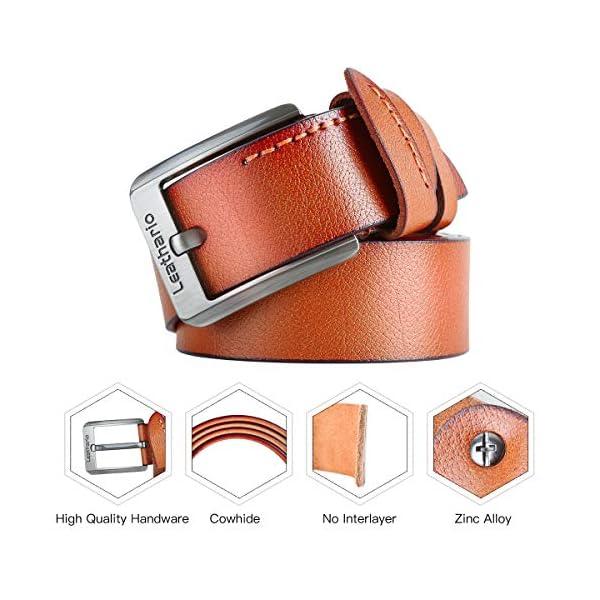 Leathario Hombres Cinturón de Cuero Correa Cinturones de Piel Diseñado para caballero
