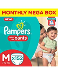 Pampers Medium Size Diapers Pants Monthly Pack (152 Pieces)