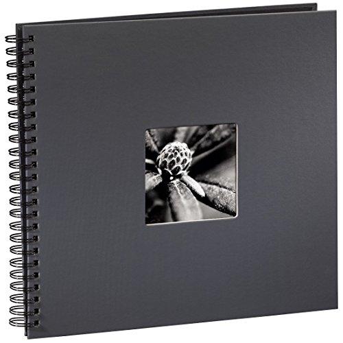 Preisvergleich Produktbild Hama Jumbo Fotoalbum (36 x 32 cm, 50 schwarze Seiten, 25 Blatt, Mit Ausschnitt für Bildeinschub, Fotobuch) grau