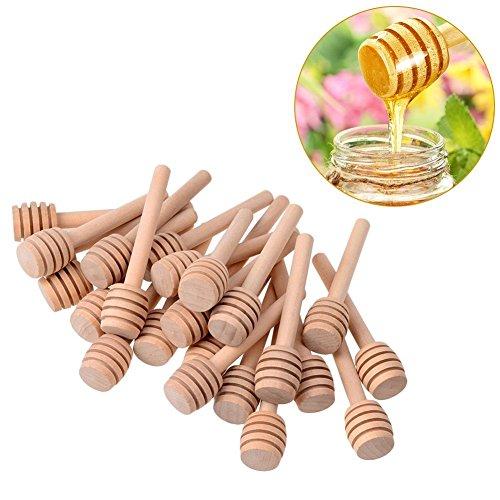 24 Stück mini Honiglöffel,mit individuellen Packung für Benutzen,sehr geeignet für Hochzeit und Party(3inch) (Glas 24 Unze)
