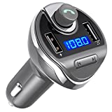 Criacr FM Transmitter, Bluetooth KFZ FM Transmitter, KFZ Auto Radio Adapter mit TF/SD -Karten-Slot, USB Flash Laufwerk für iPhone 7/7 Plus/6/6s Plus, Huawei, ect
