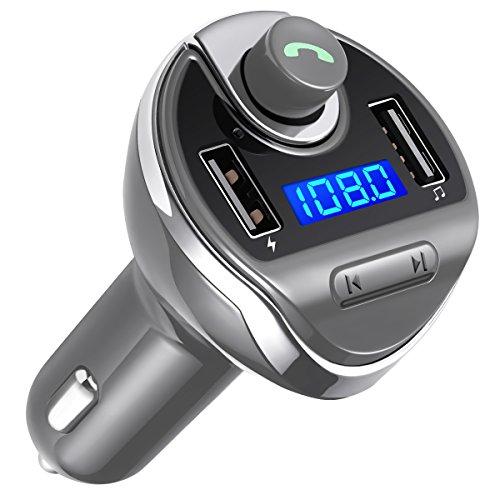 Criacr FM Transmitter, Bluetooth KFZ FM Transmitter, KFZ Auto Radio Adapter mit TF/SD -Karten-Slot, USB Flash Laufwerk für iPhone 7/7 Plus / 6 / 6s Plus, HUAWEI, ect (Mikrofon-flash-laufwerk)