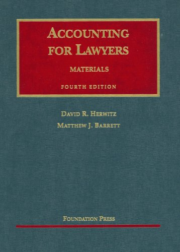 Accounting for Lawyers (University Casebook Series)