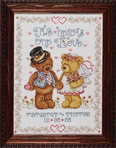 Design Works Two Hearts Wedding Sampler Cross Stitch Kit, Multi-Colour