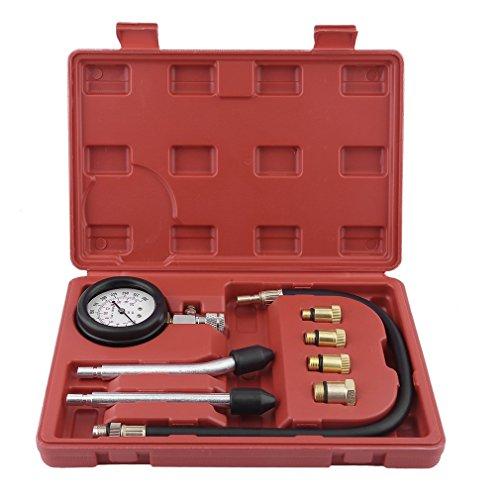 OUTAD Universal Kompressionstester-Set für Benzin-Motoren Kompression Prüfer meßen Werkzeug Test