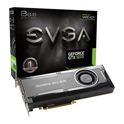 EVGA GeForce GTX 1070 Gaming Grafikkarte (8GB, GDDR5, DVI, HDMI, 3x DisplayPort)