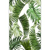 murando Papier peint intissé tropische Feuillage 150x280 cm -Trompe l oeil - Tableaux muraux - Déco - XXL - blanc vert b-B-0297-am-a