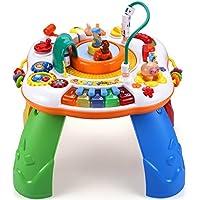 Style-Carry Actividad de Música Juguete de Bebé de Mesa - Tren de Alta Velocidad Mesa Centro de Actividades Juguete de Educación Temprana para Bebé Niñito (Grande (actualización))