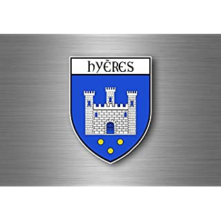 Akacha Aufkleber Sticker autoaufkleber Auto Wappen Schild Flagge Frankreich hyeres