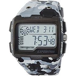 Timex Mens Grid Shock Alarm Chronograph Grey TW4B03000