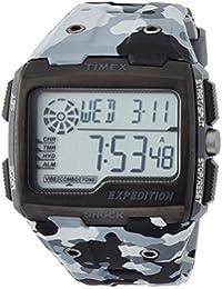 Timex TW4B03000 Herren-Armbanduhr mit Quarz-Uhrwerk, Digitalanzeige und Resin-Uhrenband.