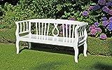 Benelando 4-Sitzer Gartenbank in weiß aus Eukalyptusholz