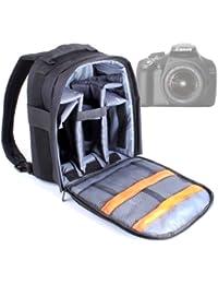 DURAGADGET Mochila Resistente Con Compartimentos Para Cámara Canon EOS 1100D / 1000D / 100D / 10D / 1DC / 1D X + Funda Impermeable ¡Perfecta Para Fotografiar Bajo La Lluvia!