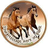 ND2 cheval personnalisable pour gâteau rond d'env. 7,5 cm (ou plus petites sur les glaçages sur demande)