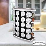 Burton McCall Olde Thompson 20geprägt Metall Gap Spice Gläsern und Edelstahl Gewürz Jar Rack mit Gewürzen