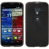 PhoneNatic Custodia Motorola Moto X trasparente nero Cover Moto X in silicone + pellicola protettiva