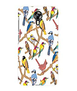 Fuson 3D Printed Birds Pattern Designer Back Case Cover for Micromax Canvas Xpress 2 E313 - D979