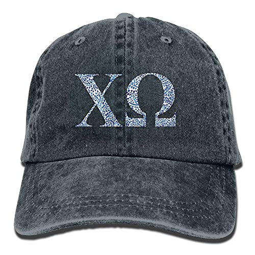 Xukmefat Chi Omega Blue Plant Adult Sport Adjustable Structured Baseball Cowboy Hat PK665 Omega Baseball
