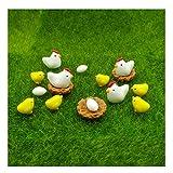 emien 16Stücke Hühner Hühner Familie Miniatur Ornament Kits Set für DIY Puppenhaus Miniatur Ornament Dekoration, Hühner, Hühnerstall, Hühner, Eier für Fairy Garden Fairy Garden Pflanze Dekor