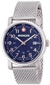 wenger 011041107 - Reloj de pulsera hombre, acero inoxidable, color plateado de wenger