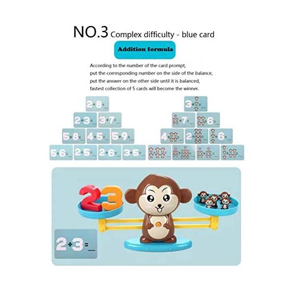 Ahagut Matemática Escalas Juguetes Monos balanza Juguetes Escalas Animales matemática Juguetes educativos Habilidades Juguetes educativos Juguetes para niños 3