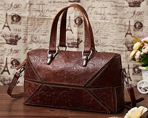 021996b8b2398 Otomoll Handgefertigte Ledertaschen Leder Handtasche Sammlung Retro Tasche  Schulter Diagonal 8320 coffee color ...