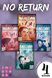 No Return: Alle vier Bände der Bandboys-Romance-Reihe in einer E-Box!: Rockstar-Liebesroman und Gay Romance in