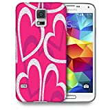 Snoogg White Hearts Designer Protective Phone Back Case Cover For Samsung Galaxy S5 mini