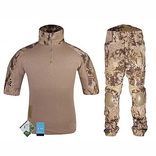 WorldShopping4U Tactique Militaire personnalisé Combat Shorts Armée Uniforme Shirt & Pants Suit Set (HLD, M)