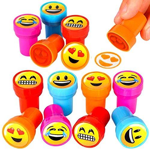 german-trendseller-r-12-x-tampons-a-encremelange-des-emojisemoticonsicons-assortislanniversaire-denf