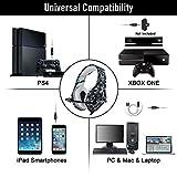 ONIKUMA Auriculares Gaming Cascos de Camuflaje Xbox One PS4 Headset, Diseño de Camuflaje con Mic Enchufe Simple DE 3,5 mm y Adaptador 2 en 1, para PS4/Xbox One/PC/Mac/iPad/Móvil