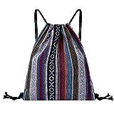 iHAZA Damen Sport Tasche Rucksack Mit Kordelzug Fitness Tasche Bundle Pocket Strand Tasche