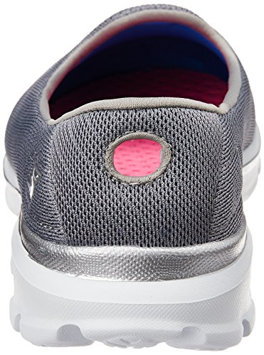 Skechers Go Walk 3 Insight, Baskets Basses Femme, Rose Bonbon, Various Gris - Grau (GRY)