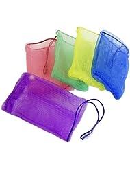 SIDCO ® 5 x Seifennetz Seifenbeutel Seifenrestebeutel Seifensäckchen Seifenreste