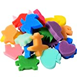 24 Pieces Painting Sponge Shapes Painting Stamps Crafting Painting Sponge Kids Sponge, Assorted Color