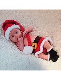 HAPPY ELEMENTS disfraz de bebé recién nacido fotografía Prop diseño de Papá Noel Papá Noel traje
