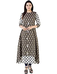 Khushal Cotton Printed Long Lenght Double Layer Designer Dress , Kurta/Kurti For Women's/Girls'/Bride BEST Full...