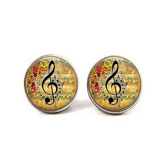 b2b Violinschlüssel Musik Note Anhänger Ohrringe