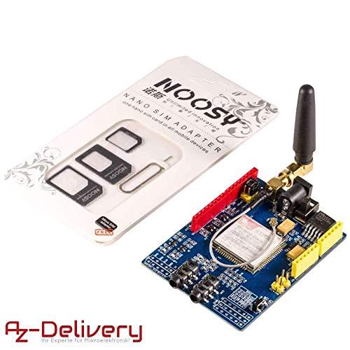 AZDelivery ⭐⭐⭐⭐⭐ SIM 900 GPRS/GSM Shield für Arduino mit gratis eBook! Gsm-modul