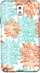 galaxy note 3 back case cover ,Aqua And Coral Flowers Designer galaxy note 3 hard back case cover. Slim light weight polycarbonate case