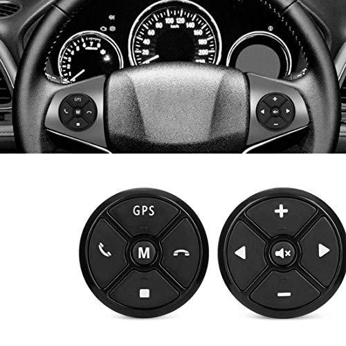 D Universal Lenkrad Fernbedienung Auto Button 4 Keys Multimedia 10-Button für Auto 2 DIN DVD Mp5 Player Navigation ()