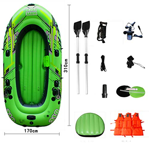 Sgs-b Kayak Inflable para 5 Personas, Bote Inflable De Kayak, Bote Inflable, Pesca De Aire con Bomba, 290 * 142 * 39 Cm