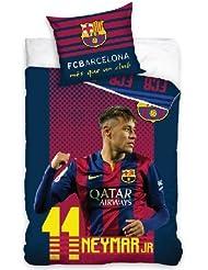 Taie d'oreiller et housse de couette de Neymar pour le Barcelone FC