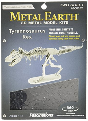 Fascinations Metal Earth - Maqueta metálica Dinosaurios Esqueleto T-R