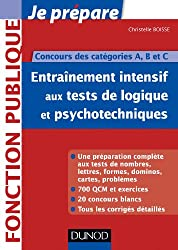 Entrainement intensif aux tests de logique et psychotechniques : Concours des catégories A, B et C (Concours fonction publique)