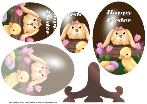 coniglietto e pulcino uovo di Pasqua piastra vibrazione con Pyramage by Michelle Johnson