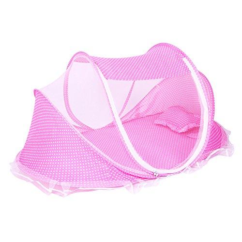 ThreeH Tenda da spiaggia portatile da spiaggia con zanzariera e cuscino BX04,Pink