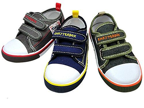 Chatterbox , Jungen Sneaker 37-31 baby Dunkelgrau