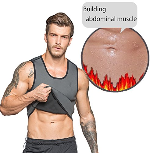 Hot Body Shaper Sauna Sweat Suit Herren Neopren Abnehmen Weste Gewicht Verlust Taille Trainer Top Workout Bauch von ribika Test